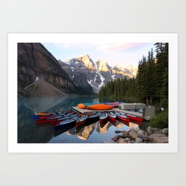 Reflections on the lake Art Print