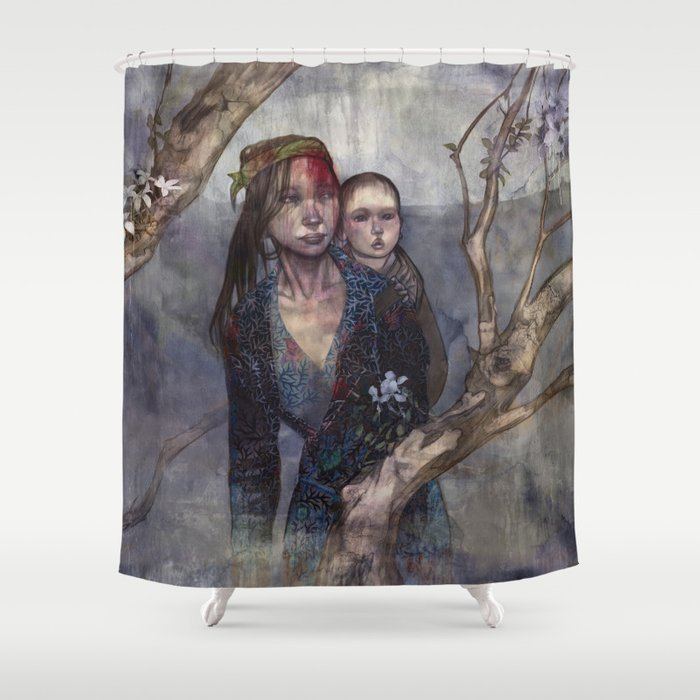 Ina's Crossroads Shower Curtain