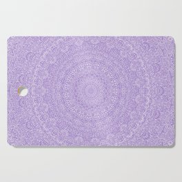 The Most Detailed Intricate Mandala (Violet Purple) Maze Zentangle Hand Drawn Popular Trending Cutting Board