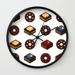 Mouth Watering Donuts and Cakelicious Wall Clock
