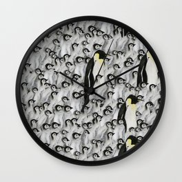 penguins penguins and penguins Wall Clock