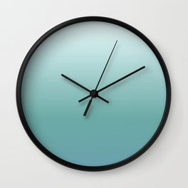 Teal Gradient Wall Clock