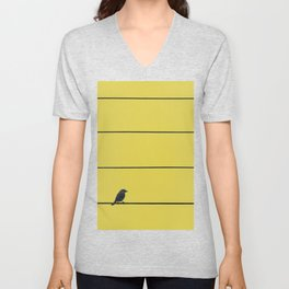 Bird and wires Unisex V-Neck