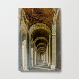 Enfilade left, Royal palace, Madrid Metal Print