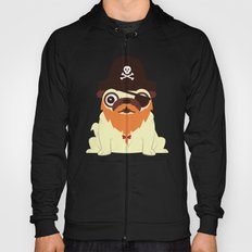 Pug in a crew Hoody