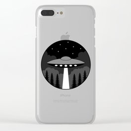 UFO Badge Clear iPhone Case