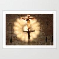 jesus Art Prints featuring Jesus by Joe Pansa