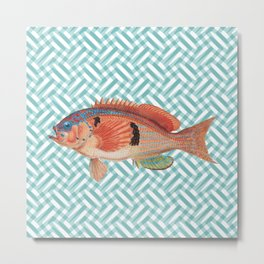 BARBER PERCH Metal Print