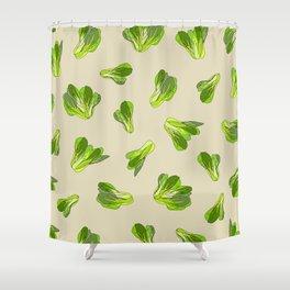 Lettuce Bok Choy Vegetable Shower Curtain