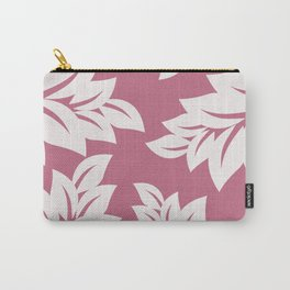 tropical pink leaves Carry-All Pouch