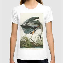 Great blue Heron - John James Audubon's Birds of America Print T-shirt