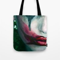 the joker Tote Bags featuring Joker by Imustbedead