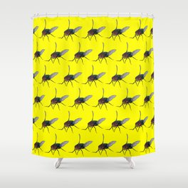 Flys pattern Shower Curtain