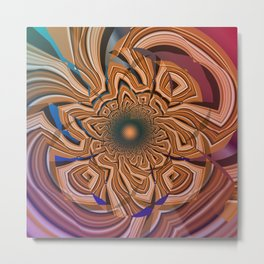 Autumn abstract with tribal patterns Metal Print