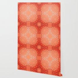 Coral Red Color Burst Wallpaper