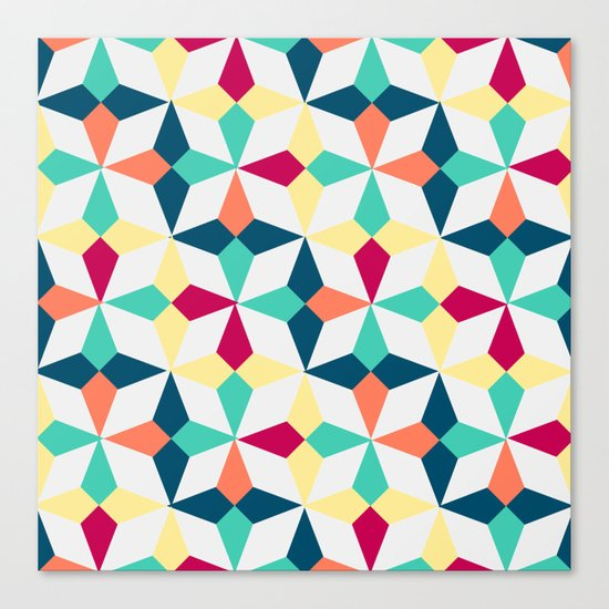 FloralGeometric Canvas Print
