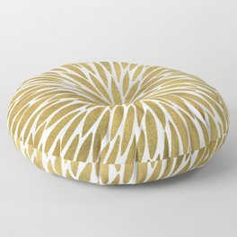 Golden Burst Floor Pillow