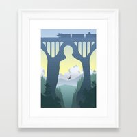 skyfall Framed Art Prints featuring SKYFALL by Ape Meets Girl