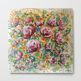 Burst of Roses Metal Print