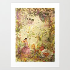 dreaming backward Art Print