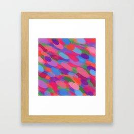 Rainbow Droplets Abstract Art Framed Art Print