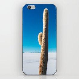 Cactus on Isla Incahuasi, Salt Flats, Bolivia iPhone Skin