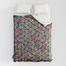 Cuben Offset Geometric Art Print. Comforters