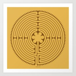 Chartres Labyrinth Art Print