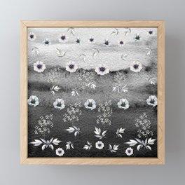 Winter Flower Garden Framed Mini Art Print