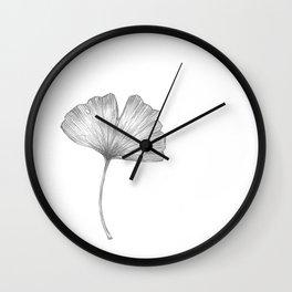 Ginkgo biloba I Wall Clock