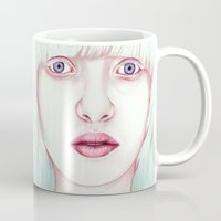 jem Mugs featuring GIRL by Laura O'Connor
