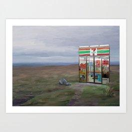 Convenience store Art Print