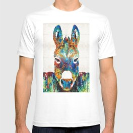 Colorful Donkey Art - Mr. Personality - By Sharon Cummings T-shirt