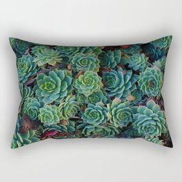 Fresh Succulent Pattern (Color) Rectangular Pillow