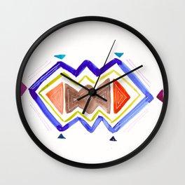 Watercolor Tribal Wall Clock