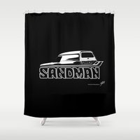 sandman Shower Curtains featuring Holden Sandman Panel Van by Blulime