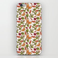 Butterflies on the leaves iPhone & iPod Skin