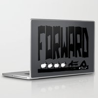 onward Laptop & iPad Skins featuring Forward by TehStr4ngeOnes