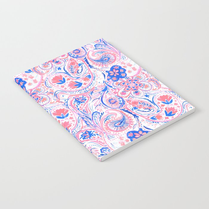 Paisley Watercolor Blue Notebook