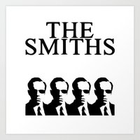 the smiths Art Prints featuring The Smiths by Diego Farias