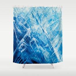 Blue Kyanite Shower Curtain