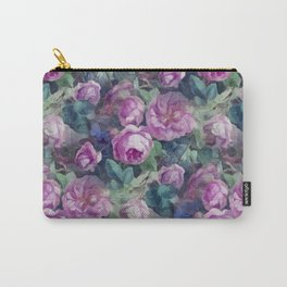 Floral pink roses pattern Carry-All Pouch