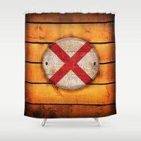 alabama Shower Curtains featuring Alabama flag. by DesignAstur