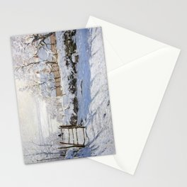 1869-Claude Monet-The Magpie -89 x 130 Stationery Cards