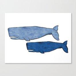 Whales Canvas Print