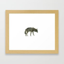 Shaggy wolf Framed Art Print