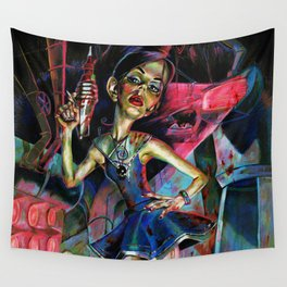 Red Alert Wall Tapestry