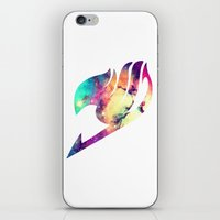 fairy tail iPhone & iPod Skins featuring Galaxy Fairy Tail Logo by ZipZapAttack