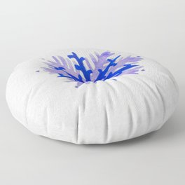 WATERCOLOR SNOWFLAKE 5 - blue and purple palette Floor Pillow