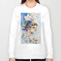 sakura Long Sleeve T-shirts featuring Sakura by Hitomi